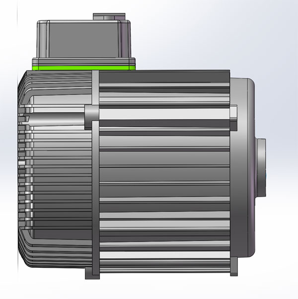 Integrated diagram of motor and controller